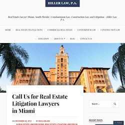 Real Estate Lawyers Miami