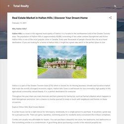 Real Estate Market in Halton Hills