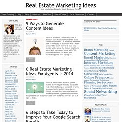 Real Estate Marketing Ideas | Best Marketing Ideas for Small Business Owners
