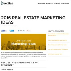 Real Estate Marketing Ideas for 2016