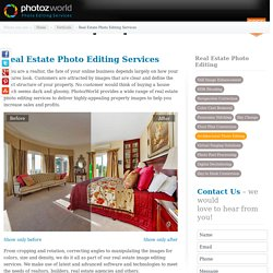 Real Estate Photo Editing Services – Image Editing Services