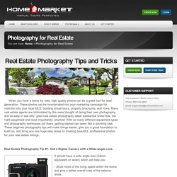 Real Estate Photography Tips and Tricks