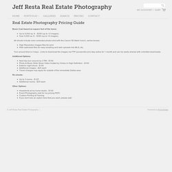 Real Estate Photography Pricing Guide