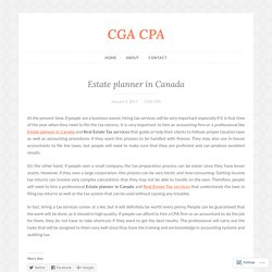 Estate planner in Canada