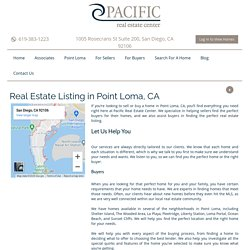 Real Estate in Point Loma, CA