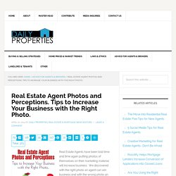 Real Estate Agent Portrait, Tips to taking Great Agent Headshots