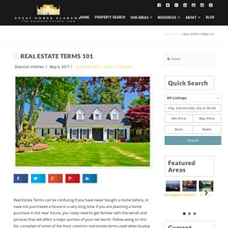 Real Estate Terms That Must Be Known