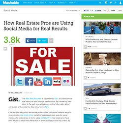 How Real Estate Pros are Using Social Media for Real Results