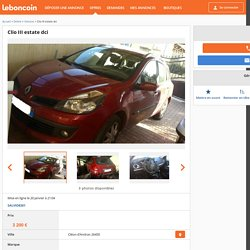 Clio III estate dci Voitures Dr�me - leboncoin.fr