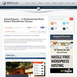 EstateExpert - A Professional Real Estate WordPress Theme