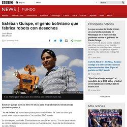 Esteban Quispe, el genio boliviano que fabrica robots con desechos