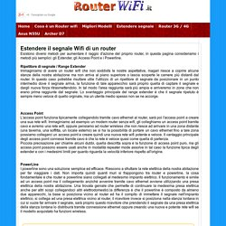 Estendere il segnale Wireless