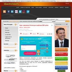 Kami: estensione Chrome per modificare PDF online