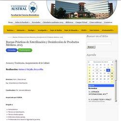 Buenas Prácticas de Esterilización y Desinfección de Productos Médicos. 2015