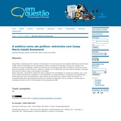 A estética como ato político: entrevista com Josep Maria Català Domenech