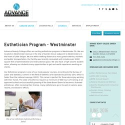 Esthetician Training Program Garden Grove