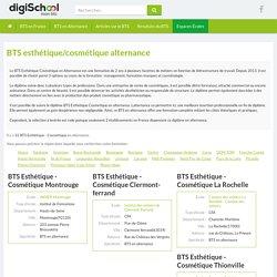 BTS Esthétique - Cosmétique en alternance - Annuaire des écoles proposant le diplome BTS...