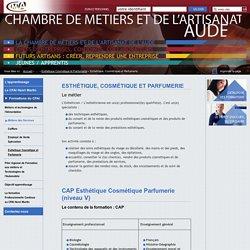 Esthétique, Cosmétique et Parfumerie - Chambre des Métiers et de l'Artisanat de l'Aude