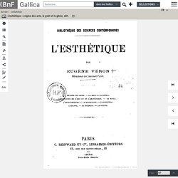 L'esthétique, par Eugène Véron, 1878