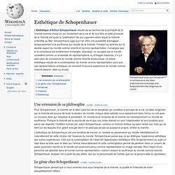 Esthétique de Schopenhauer