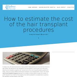 How to estimate the cost of the hair transplant procedures