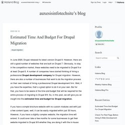 Estimated Time And Budget For Drupal Migration - auxesisinfotechsite's blog