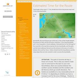 Estimated Time for the Route - Caminito del Rey - Diputación de Málaga