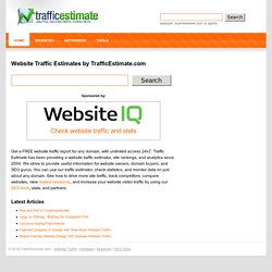 Website Traffic Estimates by TrafficEstimate.com
