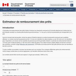 Estimateur de remboursement des prêts - Cibletudes.ca