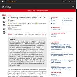 Estimating the burden of SARS-CoV-2 in France