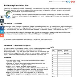 Estimating Population Size