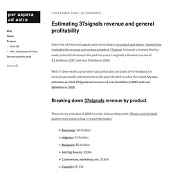 Estimating 37signals revenue and general profitability