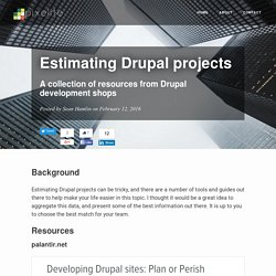 Estimating Drupal projects - Pixelite