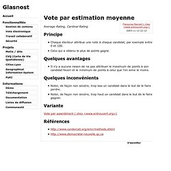 Vote par estimation moyenne - Glasnost