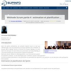 Méthode Scrum partie 4 : estimation et planification de Sprint