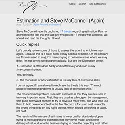 Estimation and Steve McConnell (Again)