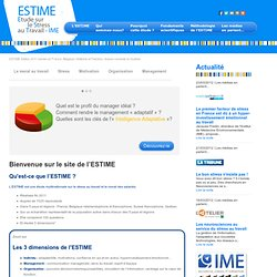 ESTIME Stress - L'ESTIME : Etude sur le Stress au Travail - IME