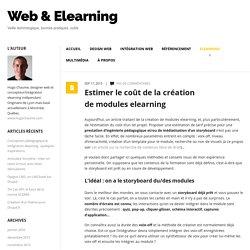 Estimer le coût de la création de modules elearning