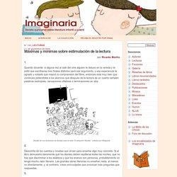 Máximas y mínimas sobre estimulación de la lectura, por Ricardo Mariño - Imaginaria No. 136 - 1° de septiembre de 2004