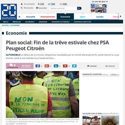 Plan social: Fin de la trêve estivale chez PSA Peugeot Citroën