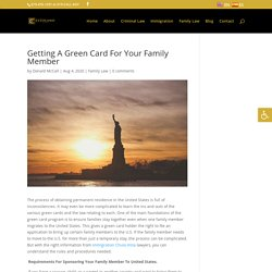 Getting A Green Card For Your Family Member