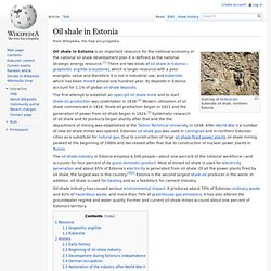 Oil shale in Estonia