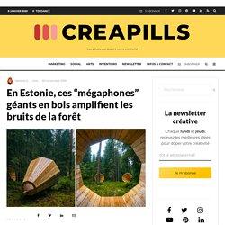 """En Estonie, ces """"mégaphones"""" géants en bois amplifient les bruits de la forêt"""