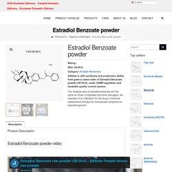 Raw Estradiol Benzoate powder (50-50-0) hplc≥98%