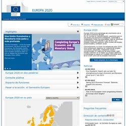 Europa 2020 – La estrategia europea para el crecimiento - Comisión Europea