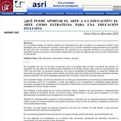 EL ARTE COMO ESTRATEGIA PARA UNA EDUCACIÓN INCLUSIVA