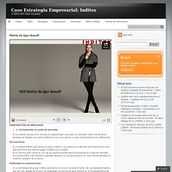 Caso Estrategia Empresarial: Inditex