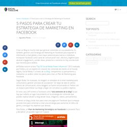5 Pasos para una Estrategia de Marketing en Facebook