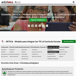 Eduteka - MITICA - Modelo para Integrar las TIC al Currículo Escolar > Docentes otras Áreas > Estrategia pedagógica