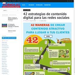 42 estrategias de contenido digital para las redes sociales